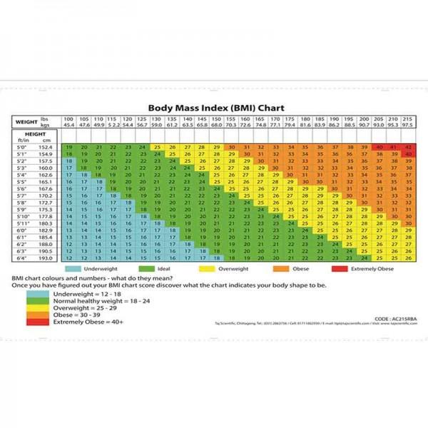 body mass index  u2013 bmi chart