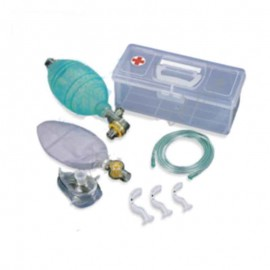 Hand Operated Compressible Self Refilling Ventilation Bag With Non Re Breathing Patient Valve Pressure Limitation To Minimize The Risk Of Over